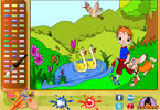 A Walk in the Park Online Coloring Page
