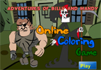 Adventures of Billy and Mandy Online Coloring Game