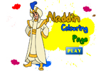 Aladdin Colouring Page