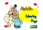 Alahdin Colouring Page