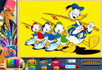 perplexo donald pgina para colorir on-line