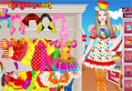 Barbie Clown Princess Dress Up