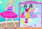 Vestido de fiesta barbie color hasta