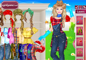 Barbie Farmer Princess Dress Up