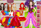 barbie red riding hood aankleden