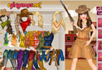 van Barbie Western Princess Dress Up