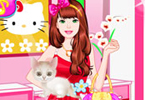 barbie met kitty dress up