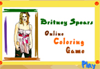 Britney Spears Online Coloring Game
