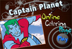 Captain Planet Online Coloring Page