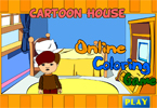 Cartoon House Online Coloring Game