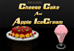 Cheese Cake and Apple Icecream