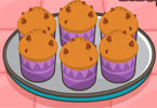 banana muffins de chocolate chips