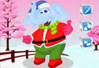 Natale elefante vestire