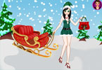 Kerst model dress up