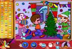 Christmas Party Online Coloring Page