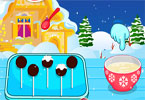 Christmas Pudding Cake Pops