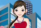 city ​​shopping girl dress up