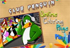 Club Penguin online colorao pgina