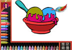 Coloring Book Ice Cream