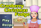 Cranberry Christmas Fudge