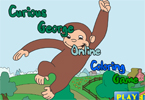 Curious George 1 Online Coloring Game
