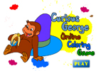 Curious George Online Coloring Game