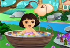 Cute Dora Bathing