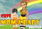 Cute Mom and Baby Dressup