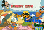 jeu en ligne de coloration de Disney Kids