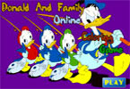 Donald och Familj Online kolorit spel