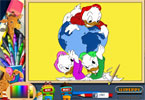 Pato Donald com globo pgina para colorir on-line