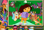 Dora the Explorer online kleurplaat