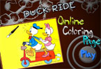 Duck Ride Online Coloring Page
