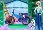 Elsa and Olaf Bike Decor