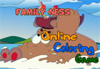 Family Ness Online Coloring Game