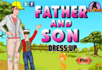 Father and Son Dress Up