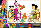 pagine da colorare Flintstones in linea