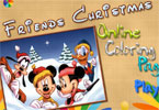 Friends Christmas Online Coloring Page