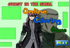 Ghost in the Shell Online Coloring Game