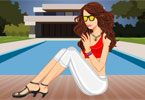 Girl by the Pool Dressup