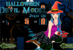 halloween modello diavolo vestire