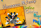 mickey halloween colorindo página