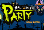 Halloween-fest rummet inredning