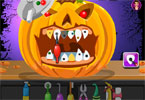 Halloween Pumpkin Dental Care