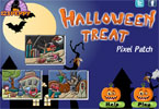 Halloween traktatie - pixel patch