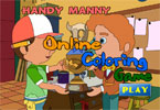 Handy Manny Online Coloring Game