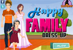 glckliche Familie dress up