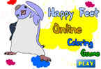 Happy Feet Online Coloring Game