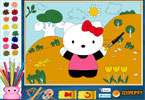 Hello Kitty Online Coloring Page