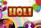 Holi Online Coloring Page